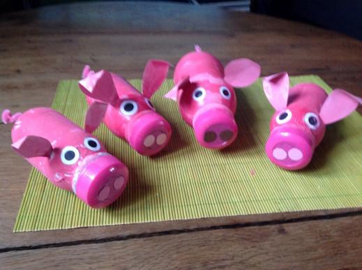 Des cochons bien intrépides